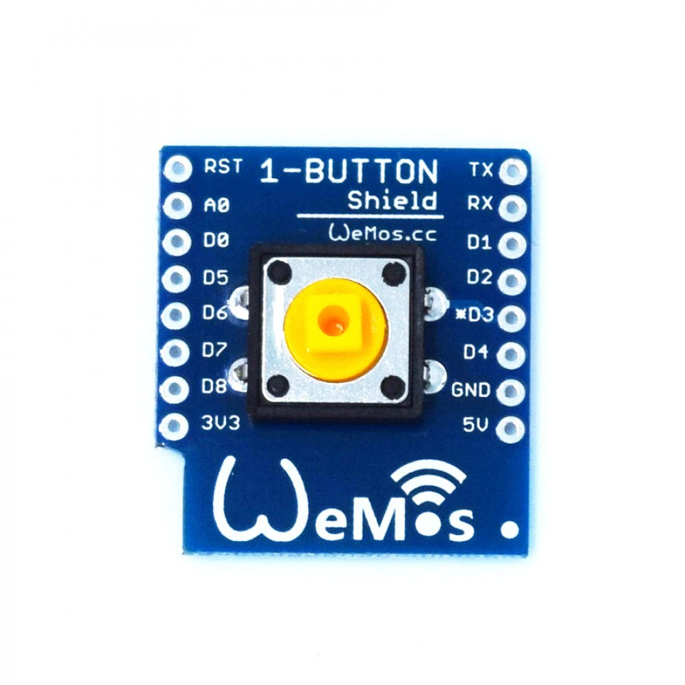 Wemos Button Shield voor D1 Mini