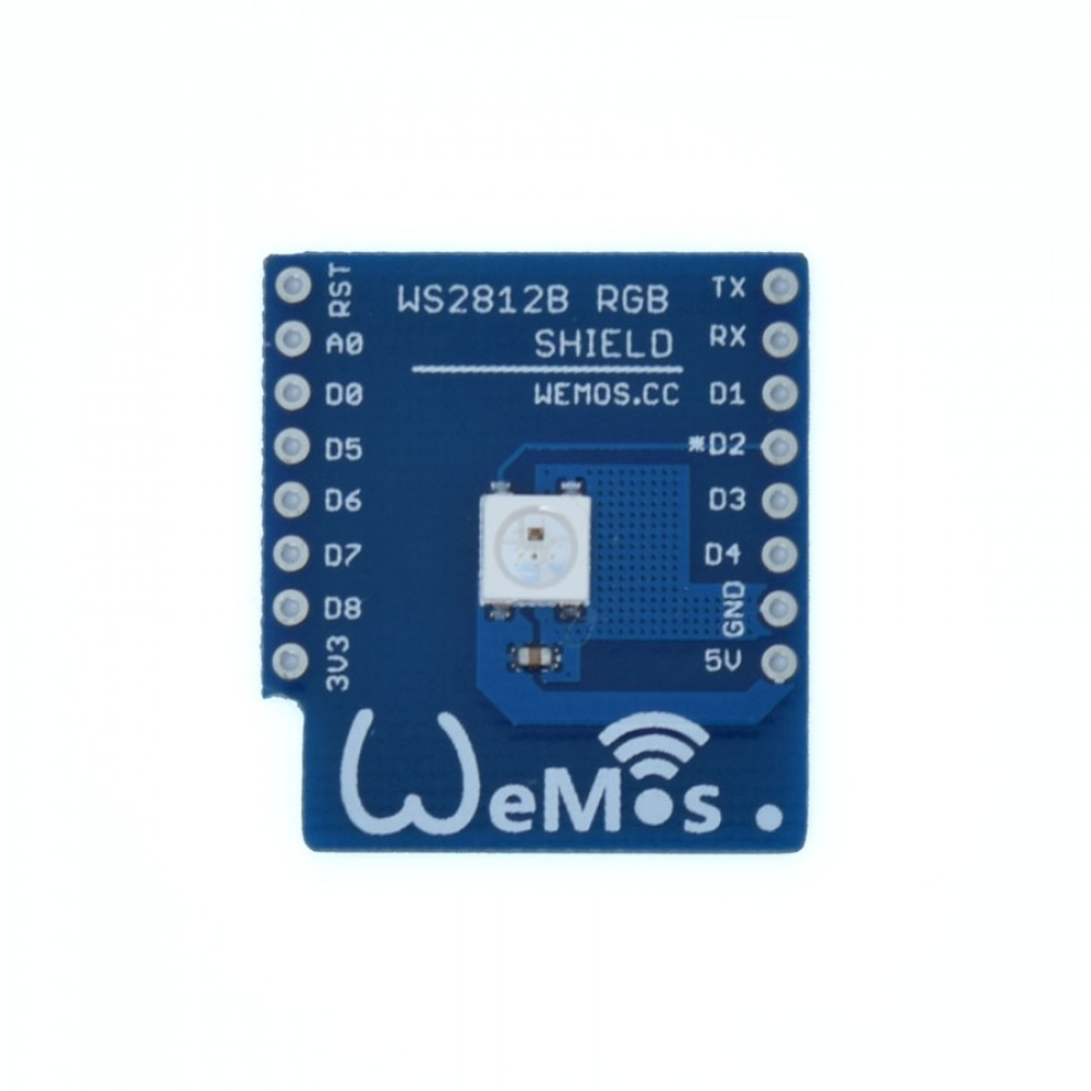 Wemos WS2812B LED Shield voor D1 Mini