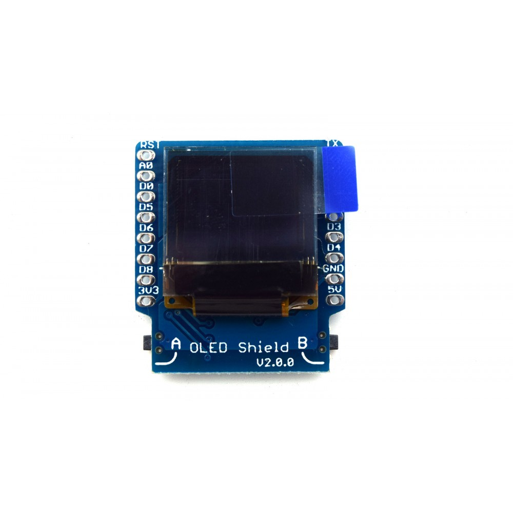 Wemos 0.66 inch OLED Shield voor D1 Mini