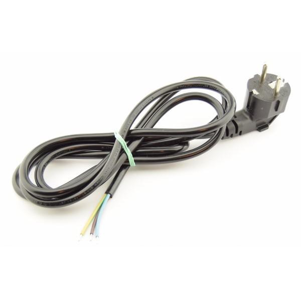 Standard 230V Power supply cable - 1.8m - Angled plug