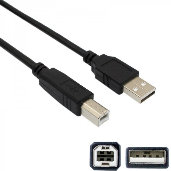 USB-A to USB-B cable - 1m
