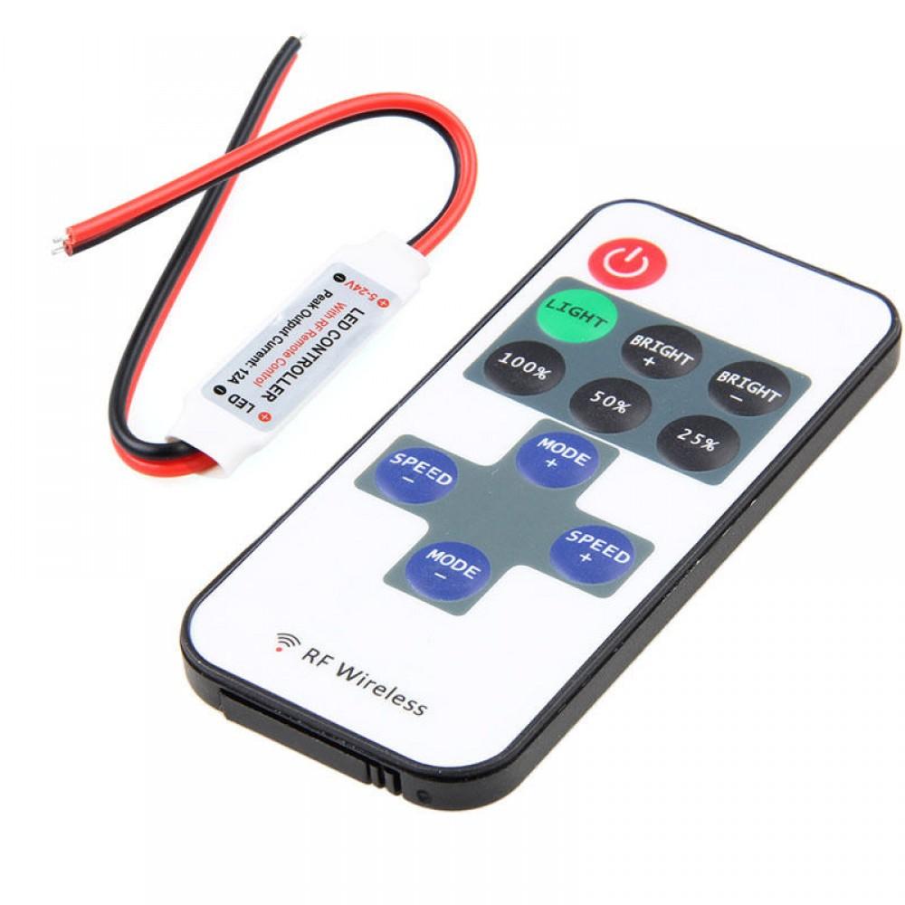 draadloze led dimmer controller 433mhz 5 24v leddimmer5 24v. Black Bedroom Furniture Sets. Home Design Ideas