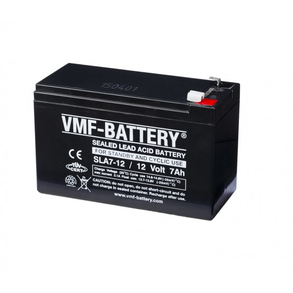 VMF 12V 7.0Ah lead battery - 4.8mm connector