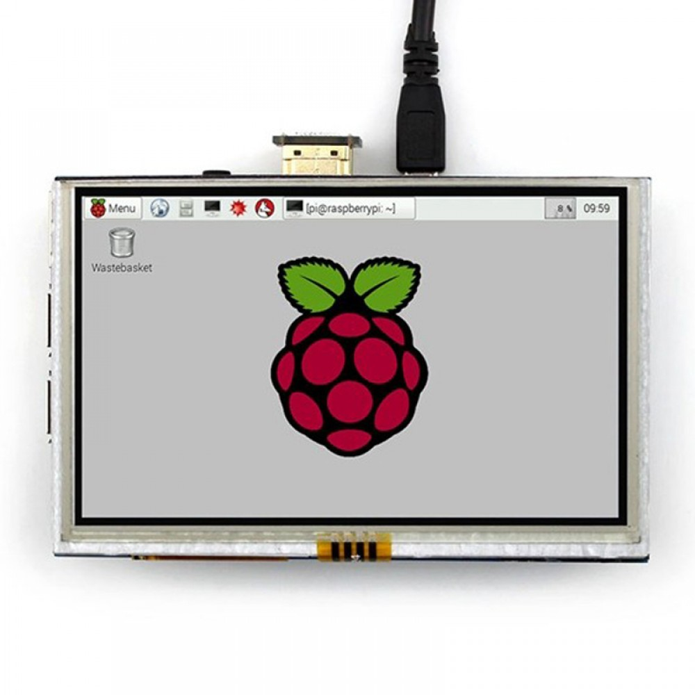 5 inch TFT-LCD Display 800*480 pixels met Touchscreen - Raspberry Pi Compatible